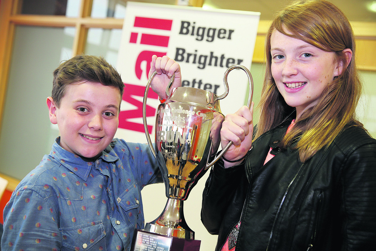 Winners from The H Team, Harry Millard-Green and Harriet Thomas. Picture: OX66756 Damian Halliwell