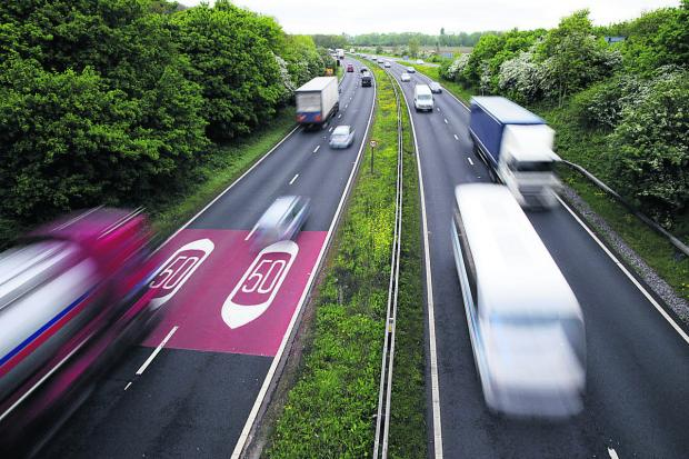 The Oxford Times: Zooming along: Traffic on the A34, pictured from the Botley bridge