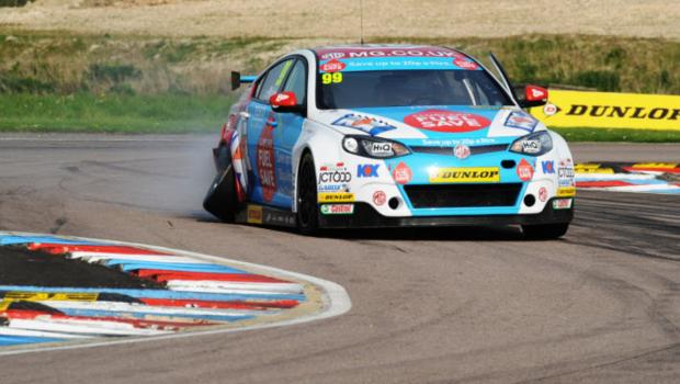 The Oxford Times: Jason Plato limps home in race three