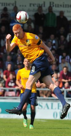 United striker Dave Kitson, pictured in action during Saturday's 3-1 defeat at Northampton Town, will have talks with manager