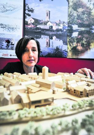 SMALL-SCALE: Stephanie Pirrie with a model of the proposed boatyard development