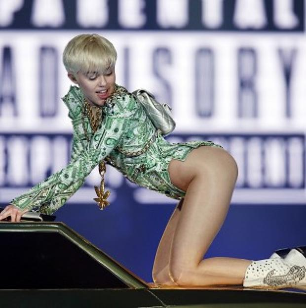 The Oxford Times: Miley Cyrus performs in concert at the O2 Arena, London, on the UK leg of her Bangerz tour.