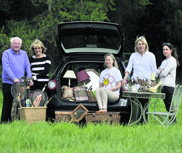 The Oxford Times: George Hedges, Chairman of ROSY, Juliet Jones, Ali Wills, P J Seccombe and Louise Nicholls