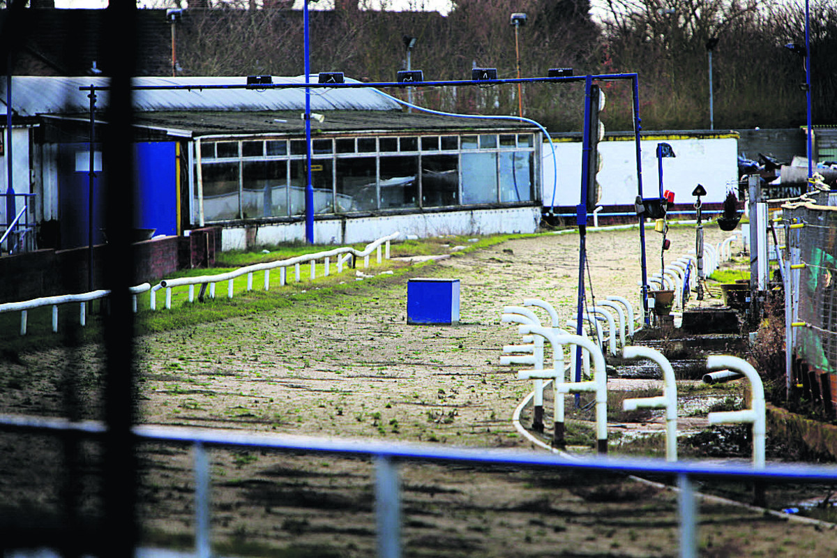The abandoned track at Oxford Greyhound Stadium. Picture: Damian Halliwell