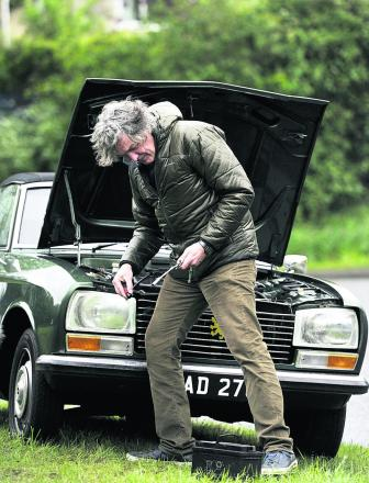 Top Gear presenter James May takes his chances in Burford. Picture: Mark Hemsworth