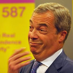 The Oxford Times: Ukip leader Nigel Farage attends a rally at the Corn Exchange, Edinburgh