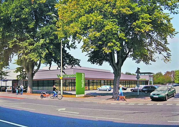 An artist's impression of the planned Botley Road Waitrose