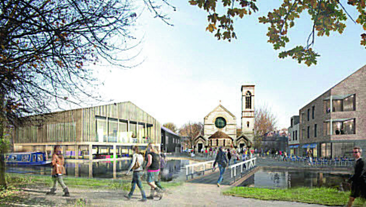 An artist's impression of the Jericho boatyard development