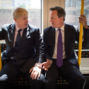 Mayor of London Boris Johnson and Prime Minister David Cameron on the campaign trail