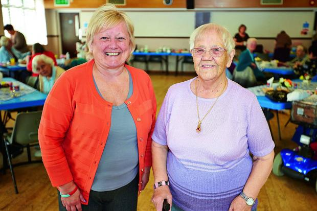 The Oxford Times: he Barton Bash has been moved to mark the 100th birthday of the estate's oldest resident Dorothy Pearce, right, with event organiser Sue Holden at Barton Neighbourhood Centre