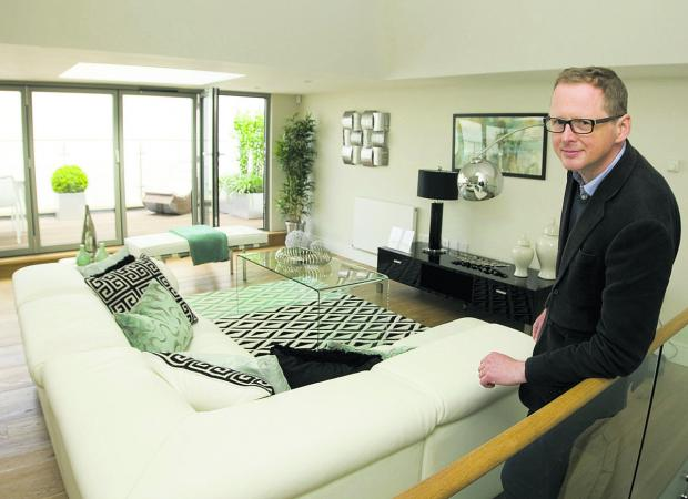 Simon Vernon-Harcourt in one of the new homes created from the old bunker,
