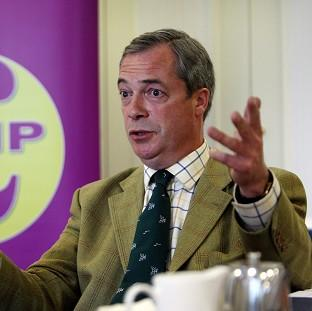 Ukip leader Nigel Farage suggested there was no problem with his wife's first language being German as she did not speak it on British trains