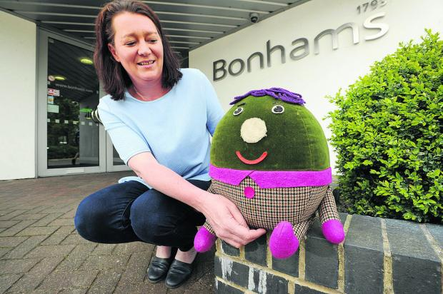 Rachel Gotch from Bonhams with Humpty