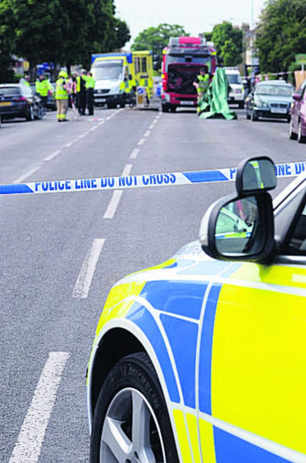 The Oxford Times: Police at the scene of the Cowley Road crash
