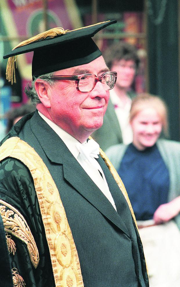 The Oxford Times: Roy Jenkins at the Encaenia procession at the Sheldonian, Oxford, in June, 1987