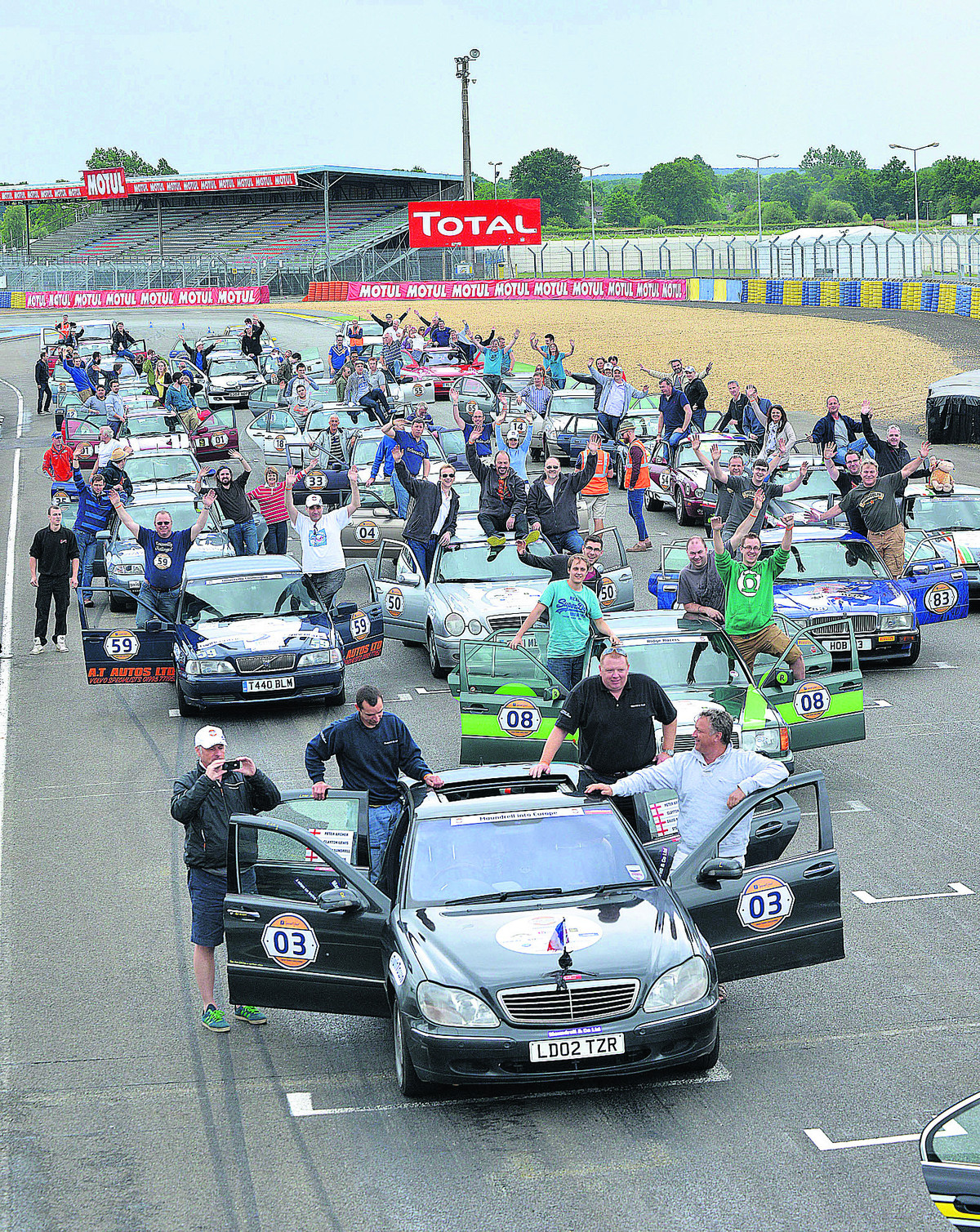 Drivers in pole position for twin town fundraising trek