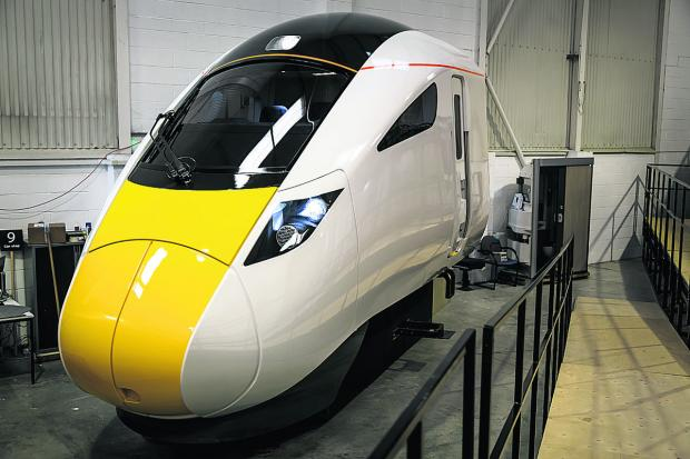 The Oxford Times: The new IEP train to operated by Great Western.