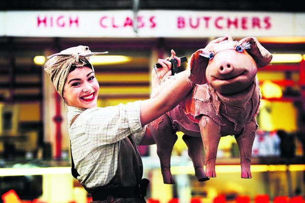 The Oxford Times: Lauran Logan plays Betty and apparently her co-star is a talking pig