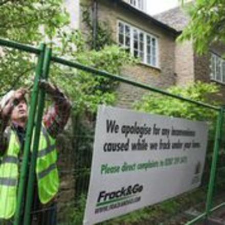 Fracking protesters set up mock drilling site outside David Cameron's home