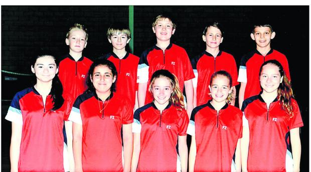 Back row (from left): Jamie Redfern, James Moreton-Smith, Ethan Rose, Dan Worth, Christian Mitchell. Front: Safia Khimji, Saffy Gujral, Hannah Craig, Maisie Marriott, Maisie Boyd