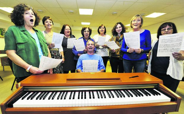 Members of the Blackbird Leys Choir in rehearsal