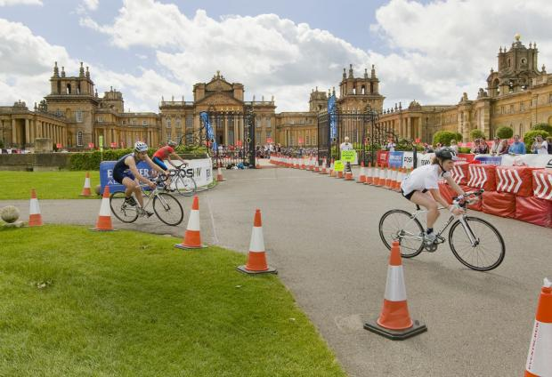 The Oxford Times: Belheim Palace during the recent triathalon