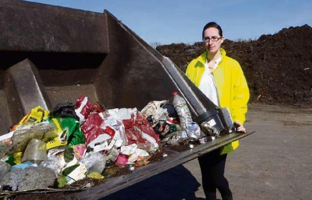West Oxfordshire District Council recycling officer Sian Stokes