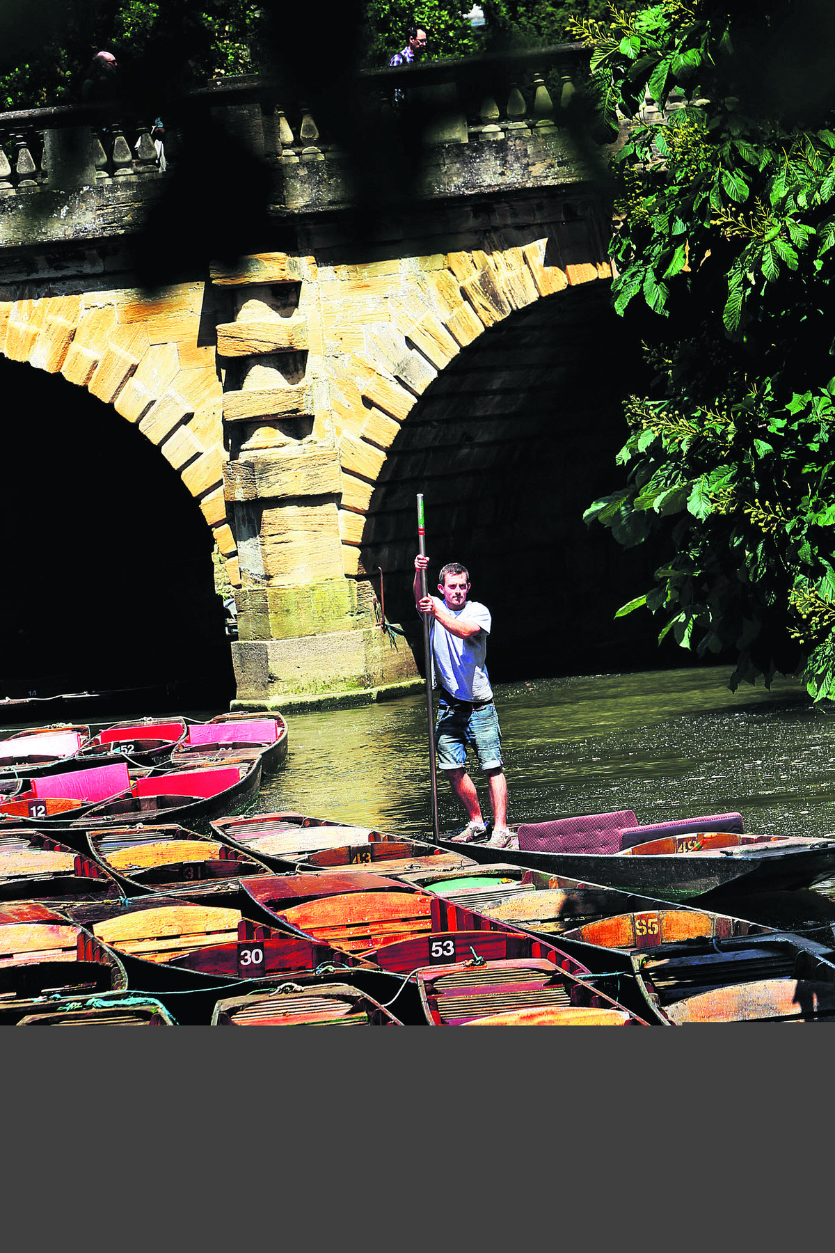 Magdalen Bridge Boathouse manager Patrick Montgomery on a punt