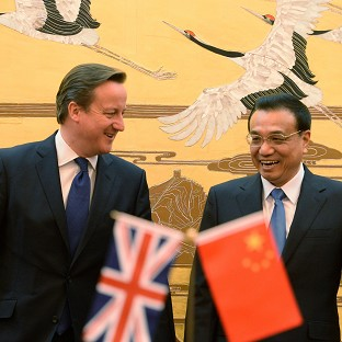 Prime Minister David Cameron with Chinese Prime Minister Premier Li Keqiang who will visit the UK next week