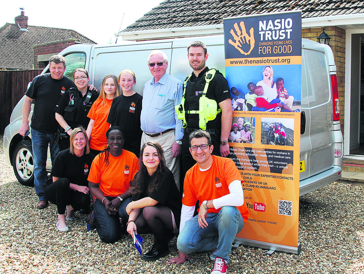 Standing, from left, supporters John Cornelius, Pc Sam Greenough, Phoebe Scotland, Abi Rennie, Paul Rennie and Pc Chris Linzey. Front: Louise Russelle, Nancy Hunt, Megan Garvey and Jonathan Hunt