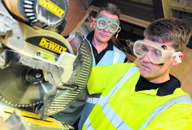 The Oxford Times: Toby Smith, 17, from Kidlington, learns Carpentry Level 2 with Adam Marsh from Ace