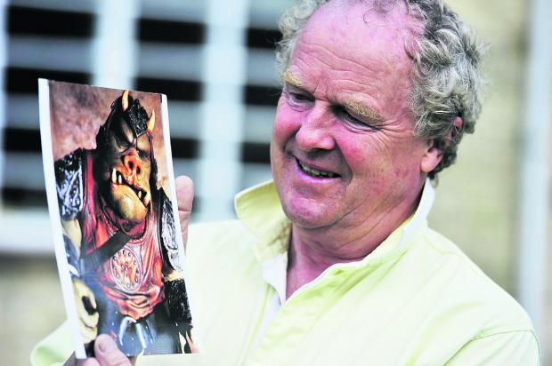 The Oxford Times: Hugh Spight holds a photo of the character he played in Star Wars: Return of the Jedi
