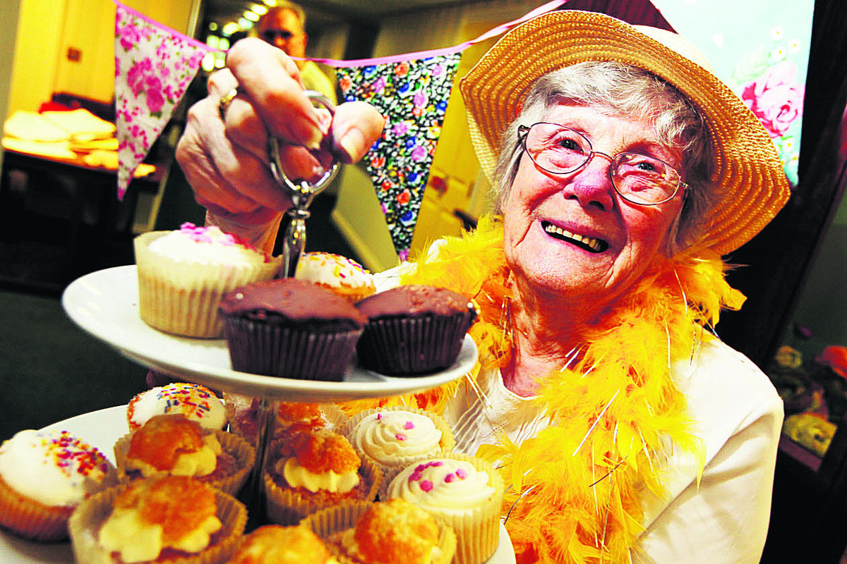 TASTY TREATS: Violet Falkous, 85, at Iffley Residential and Nursing Home