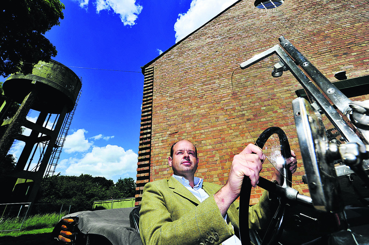 SKY'S THE LIMIT: Dan Geoghegan at the former RAF Bicester site off Buckingham Road