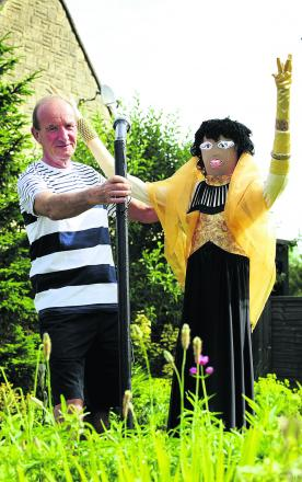 Scarecrow trail organiser Graham Knaggs teams up with