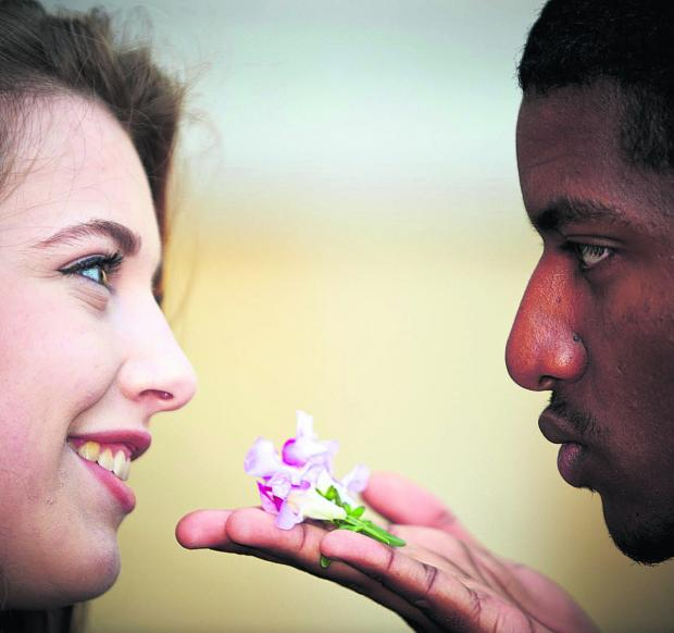 Jessica Hindley, 17 and Brian Chandrabose, 19. Picture OX68047 Cliff Hyde