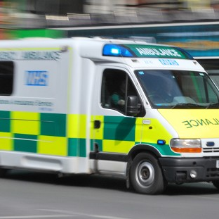 Injured person cut free after two-car collision