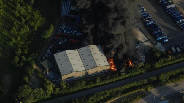 Hot weather caused recycling centre blaze
