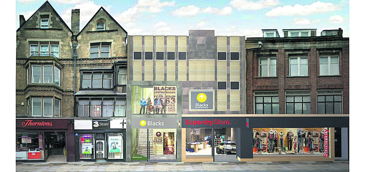 An artist's impression of the proposed Blacks/ Superdry