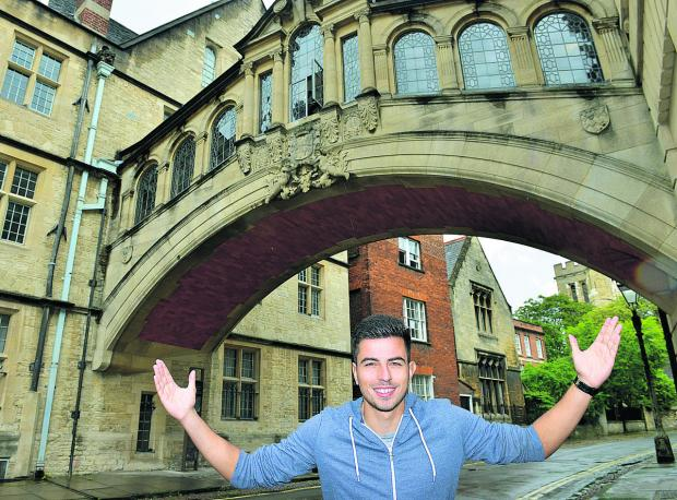 The Oxford Times: Felipe Barcelos pictured at the city's Bridge of Sighs