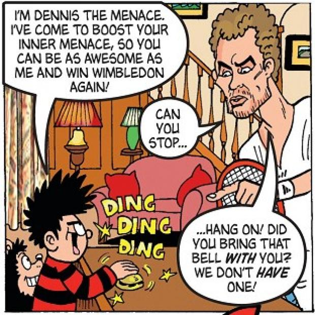 The Oxford Times: Andy Murray as he appears in the latest edition of the comic, The Beano, which he also guest edits.
