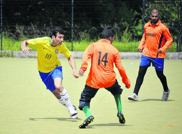 The Oxford Times: Action from the match