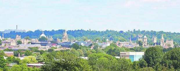 Oxford's unique dreaming spires seen from Raleigh Park in North Hinksey. Picture: OX68010 Cliff Hide