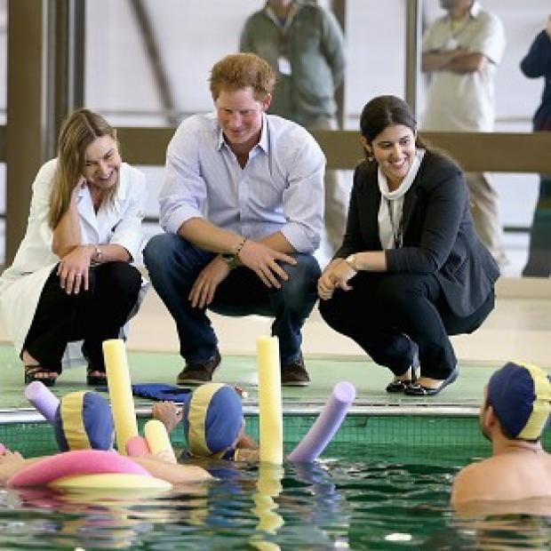 The Oxford Times: Prince Harry meets patients in the Rede Sarah Hospital for Nerological Rehabilitation injuries during his visit to the hospital in Brasilia