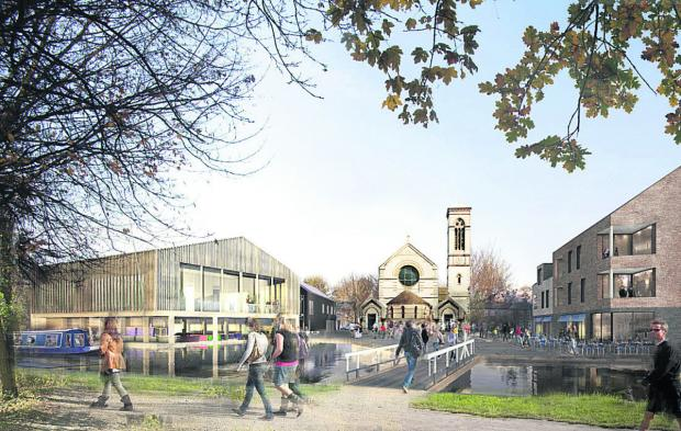 Artist's impression of the planned boatyard