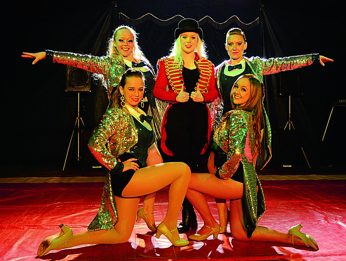 Katie Rogers, centre, born and raised in Wantage, is now Ringmaster for Jay Millers Circus which comes to Wallingford and Wantage next week