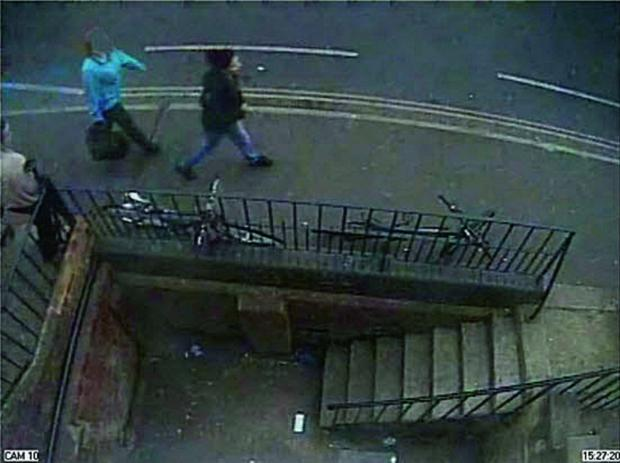 CCTV of Jayden Parkinson leaving the One Foot Forward hostel in Oxford to meet Ben Blakeley on the day she was killed