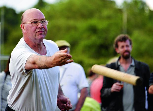 The Oxford Times: Henry Johnson from Yarnton on his way to becoming the new Aunt Sally World Champion held at Charlbury Beer Festival at the weekend.