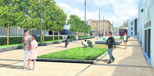 An artist's impression of how Frideswide Square will look