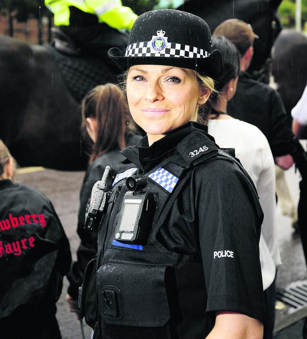 Pc Dawn Evans, pictured at Saturday's Barton Bash